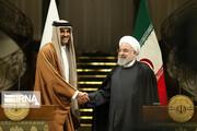 امیر قطر سالگرد پیروزی انقلاب را به روحانی تبریک گفت