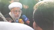 جنتی: مردم به کسانی رأی دهند که طعم گرسنگی را چشیده باشند/کسانی که در مجلس فاسد شدند را کنار زدیم /عکسی از حضور احمدی نژاد در جمع راهپیمایان