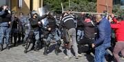 کتککاری و پرتاب تخممرغ در روز رأی اعتماد به دولت لبنان