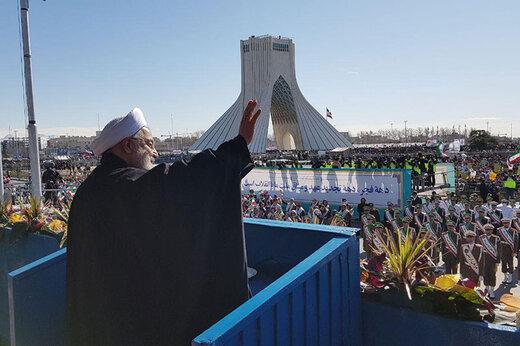 قدردانی رئیس جمهور از حضور پرشور و آگاهانه مردم در مراسم یومالله ۲۲ بهمن