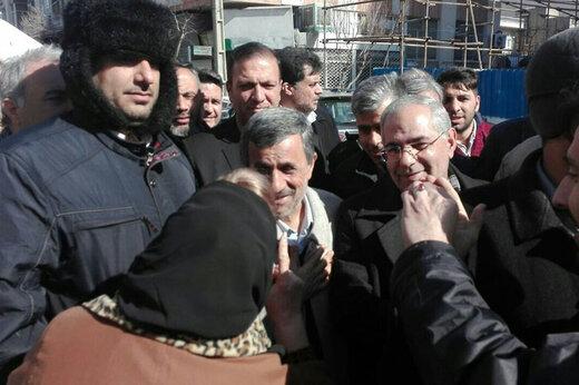 فیلم   حضور محمود احمدی نژاد در راهپیمایی ۲۲ بهمن