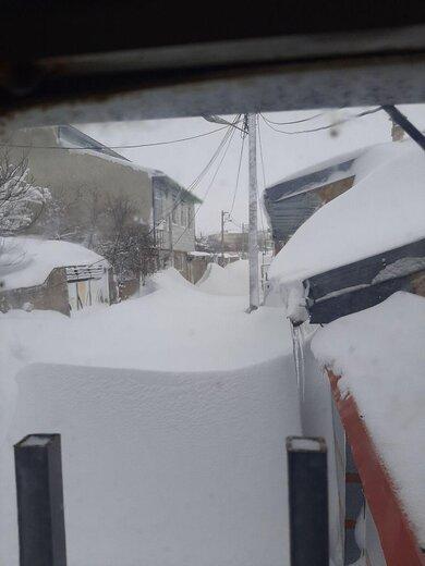 تصاویر باورنکردنی از ارتفاع برف در خلخال و جاده بوکان به مهاباد