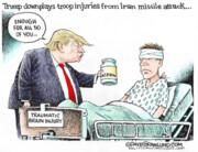 عیادت ترامپ از سربازان آسیبدیده عینالاسد!