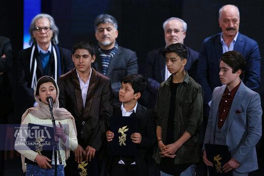 تقدیر در کودکان بازیگر در فیلم «خورشید» به کارگردانی مجید مجیدی در اختتامیه سی و هشتمین جشنواره فیلم فجر