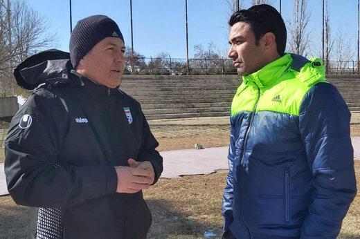 حضور سرمربی جدید تیم ملی ایران در تمرین فولاد
