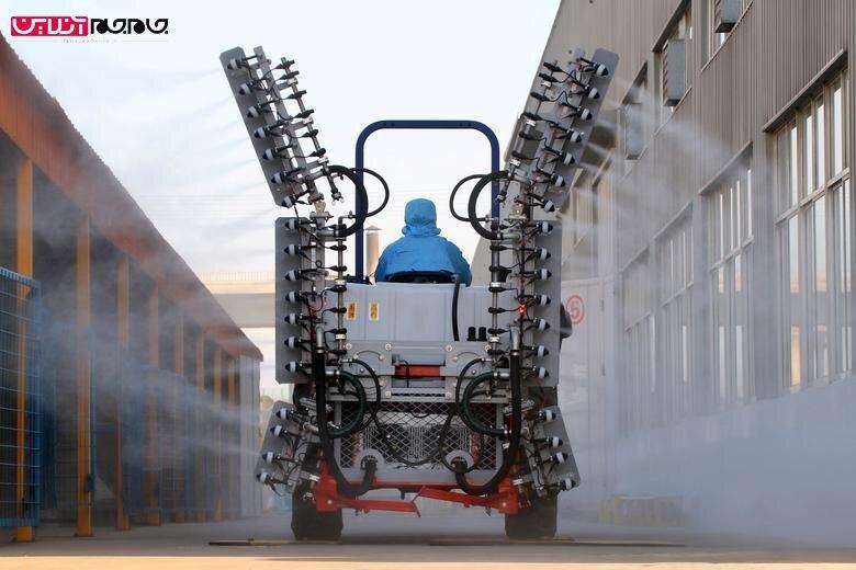 ماشینهای ضدعفونی کننده علیه ویروس کرونا در شاندونگ چین