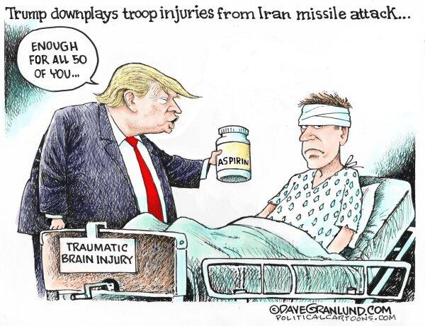 آسیب دیدگی مغز ترامپ بیشتر از این سربازهاست!