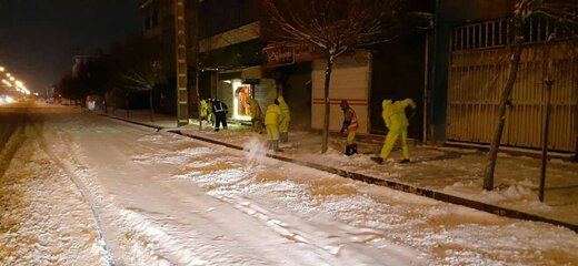 پرسنل شهرداری ارومیه ۷۲ ساعت در آمادهباش بودند