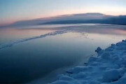 ببینید | تایم لپس یخ زدن ۲۰ روزه دریاچه بایکال در ۳۵ ثانیه