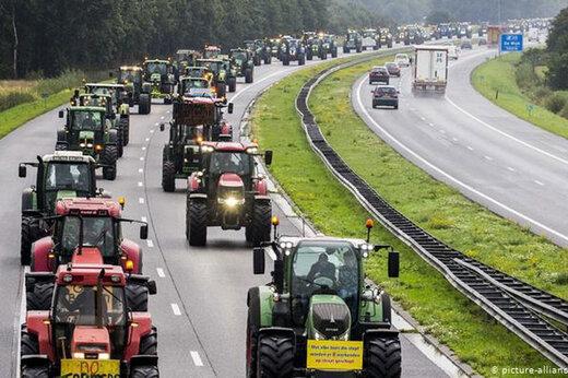ببینید | اعتراض کشاورزان اسپانیایی به سبک فیلم جدید «حاتمیکیا»