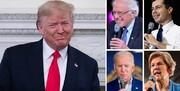 سندرز در صدر دموکراتها؛ ترامپ بالاتر از همه نامزدها