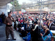 اجرای موسیقی سنتی کردستان در نمایشگاه گردشگری تهران