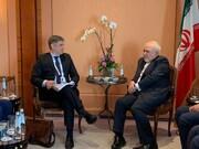 وزيرا الخارجية الإيراني والأوكراني يبحثان حول الطائرة الأوكرانية