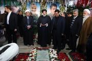 ببینید | رییس قوه قضائیه بر سر مزار شهید حاج قاسم سلیمانی