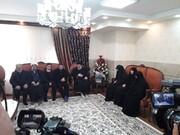دیدار رییس  قوه قضاییه با خانواده سردار سلیمانی و جانباختگان تشییع