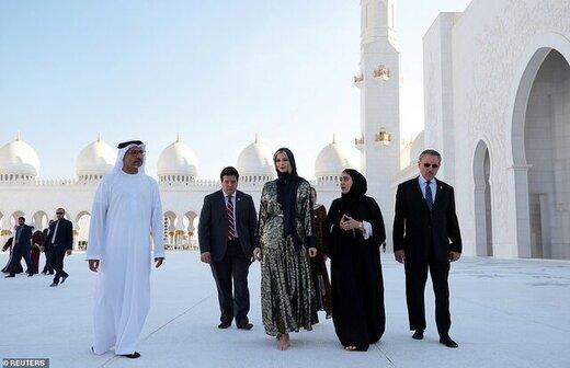 تصاویر | بازدید دختر ترامپ از مسجد شیخ زاید در امارات