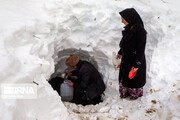 تصاویر | زندگی سخت مردم سیاهکل پس از بارش برف سنگین!