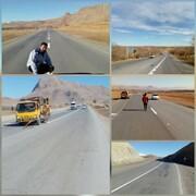 خط کشی و ایمن سازی جاده های سراسر استان چهارمحال وبختیاری