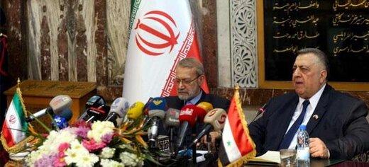 لاریجانی: سوریه از محورهای مهم مقاومت است/مبارزه با تروریسم را مسئله ای مهم میدانیم/تجار ایرانی مایل به همکاری با تجار سوری هستند