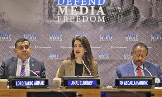 انتقاد همسر جورج کلونی از ترامپ/ به حقوق رسانهها احترام نمیگذارند