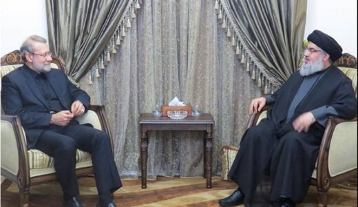 Larijani reviews regional developments with Nasrallah