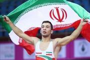 اولین مدال طلای ایران در رقابت های کشتی آسیا در هند