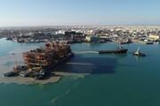 ببینید | تصاویری از انتقال ابرسازه نفتی ایرانی در خلیج فارس