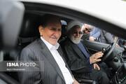 ببینید | روحانی و جهانگیری سوار بر خودروی جدید ایرانی