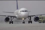 ببینید | فرود اولین هواپیما در فرودگاه بینالمللی حلب پس از ۸ سال