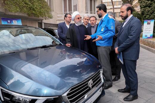 رونمایی از خودروهای جدید تولید داخل در حاشیه هیات دولت