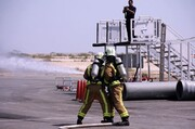 رونمایی از شبیه ساز حریق موتور هواپیما در فرودگاه  بین المللی کیش