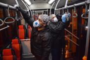 ببینید | شستشو و ضدعفونی اتوبوسهای تهران برای مقابله با کرونا ویروس