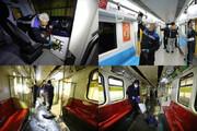 ببینید | متروهای تهران اینگونه به جنگ کرونا رفتند
