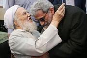 ببینید | آیت الله موحدی کرمانی و سردار قاآنی پای صندوق رای