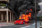 ببینید | لحظه سوختن فراری کمیاب یک میلیون دلاری پس از انفجار