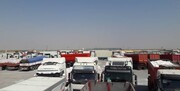 بسته شدن مرز مهران به دلیل شیوع کرونا ۱۰۰۰ کامیون را سرگردان کرد
