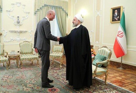 تصویری از دیدار حسن روحانی با وزیر خارجه هلند