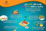 ببینید | توصیههای تغذیهای وزارت بهداشت برای پیشگیری از کرونا