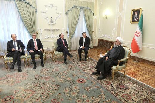دیدار وزیر امور خارجه اتریش با رییس جمهوری
