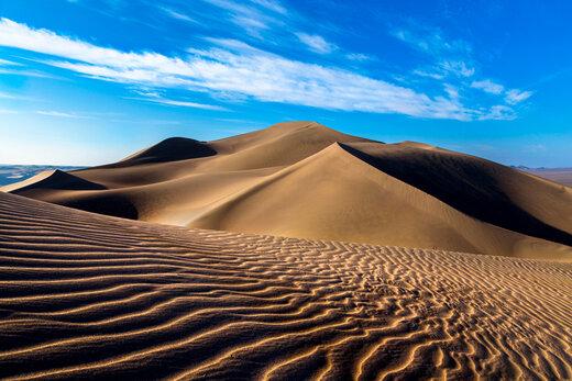 اینجا دریای پنهان در بیابان لوت/ دما: ۸۰ درجه بالای صفر