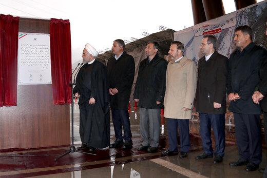 روحانی: آزاد راه تهران - شمال نمایش قدرت مهندسان ایرانی است