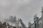 ببینید | هتل ادریس مشهد در آتش سوخت