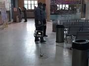ضدعفونی و شستشو روزانه پایانههای مسافربری قزوین