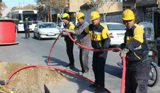 بهره برداری از پروژه توسعه شبکه فشار متوسط زمینی خیابان حافظ شهرستان سمنان