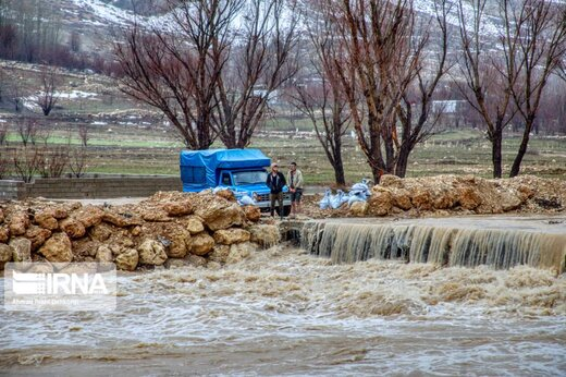 سیلاب در شهرستان کوهرنگ فروکش کرد