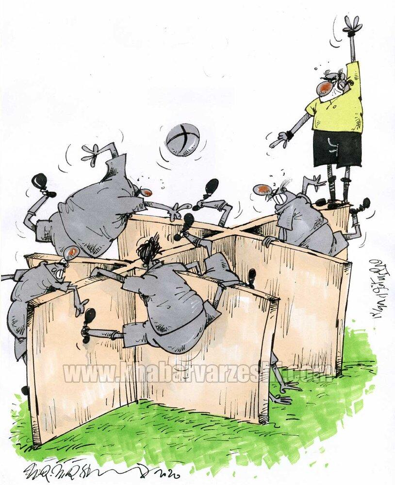 اینم فوتبال در وضعیت کرونایی!