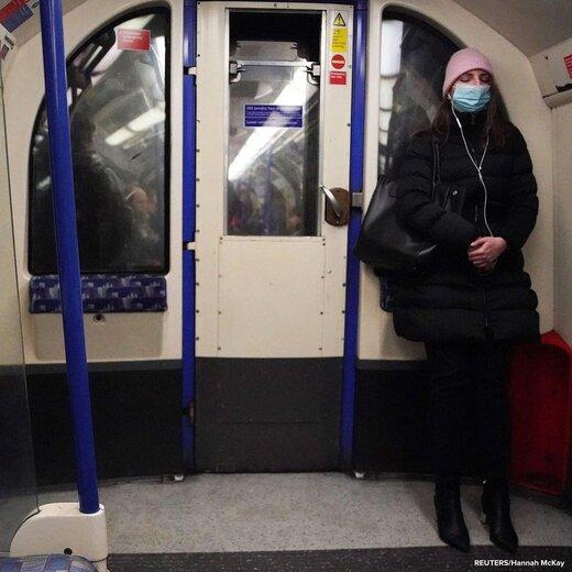 مسافران مترو لندن در محاصره کرونا