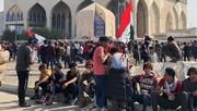 معترضان عراقی بیتوجه به شیوع کرونا به تجمعات ادامه میدهند