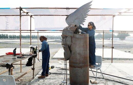 پایان رویداد مجسمه و طبیعت با نصب ۱۲ مجسمه زیبا در جزیره کیش
