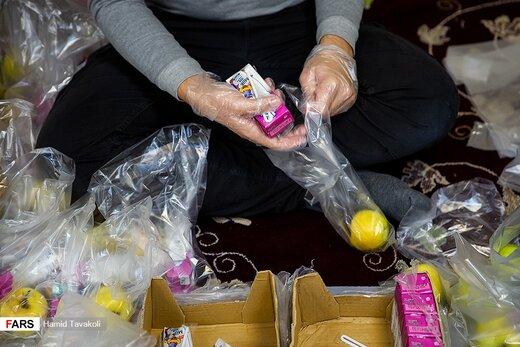 تهیه بسته غذایی برای بیمارستان مسیح دانشوری